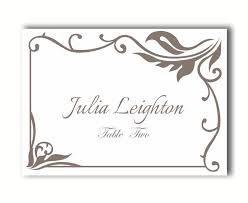 Place Cards Wedding Place Card Template Diy Editable Printable Place
