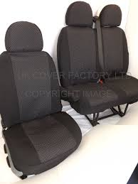 get ations vw transporter t5 t26 t28 t30 t32 van seat cover made to measure oem silver fleck