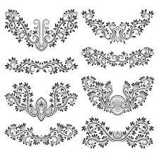 Návrh Okrasné Prvky Květinové Tetování Ve Stylu Premium Clipart