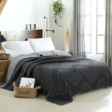 dark bedding sets quilted bedding set cotton embroidery bedspread reversible dark grey with light grey classic