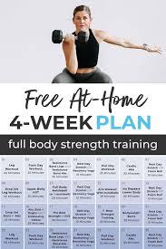 free 4 week workout plan for women