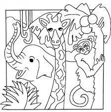 Free Printable Jungle Animals Color Pages The Art Jinni