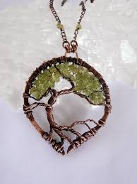 perfectly twisted handmade wire wrapped beaded and gemstone jewelry new tree of life wire wrapped bonsai pendants