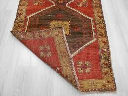 fabulous turkish runner rug handknotted vintage decorative turkish runner rug 0216