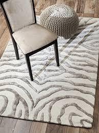 zebra area rug. NuLOOM Hand Tufted Plush Zebra Area Rug E