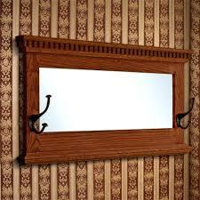 Antique Oak Coat Rack Impressive Wall Mirror With Coat Hooks Mirror Coat Rack Rustic Mirror Antique