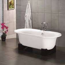 freestanding bath with wooden cradle quick view