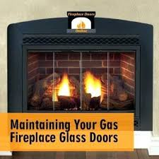 best way to clean fireplace glass how wood doors