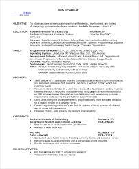 Resume Template Computer Science Student Resume Sample Diacoblog Com