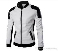 cool college baseball jacket men 2018 fashion design black pu leather sleeve mens slim fit varsity jacket brand veste homme l canada 2019 from