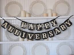 happy anniversary banners free shipping 1 x black happy anniversary banner anniversary sign