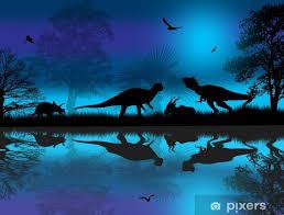 blue night wall mural pixers