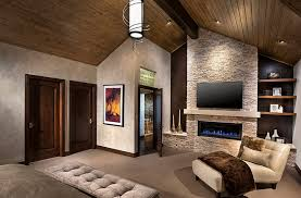 modern bedroom with tv. View In Gallery Tv Above The Fireplace Idea For Contemporary Bedroom Modern With