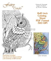 Small Picture Moon Owl Fairy Tangles Adult Coloring Book Printalbe Coloring