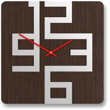 stylish wooden wall clocks with modern design  digsdigs  decor
