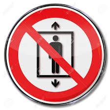 「エレベータ 禁止」の画像検索結果