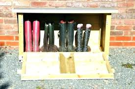 outdoor boot rack storage view larger wellington box outside shoe bench home depot b