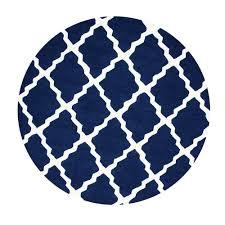 white round area rug. Nuloom Trellis Navy Blue 8 Ft X Round Area Rug Mtvs27d 808r White N
