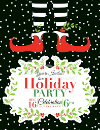 Free Christmas Party Templates Invitations Party Invitation Elf Christmas Party Invitation Free Template 3