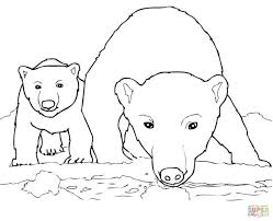 Small Picture Polar Bear Coloring Pages Coloring Pages To Download And Print