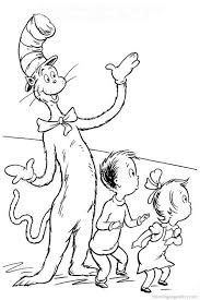 Small Picture Cat In The Hat Coloring Pages For Preschool Cat In The Hat 13182