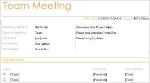 Agenda Outlines Templates 15 Free Meeting Agenda Templates For Microsoft Word