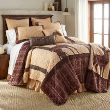 brown antler woods rustic deer quilt bedding by donna sharp