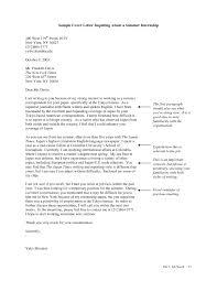 Resume Cover Letter Examples Summer Job Mediafoxstudio Com