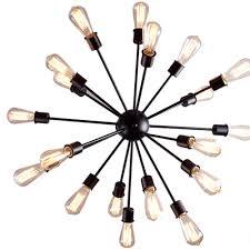 impressive satellite chandelier pendant sputnik light fixture 20 arm for modern home lighting in dark