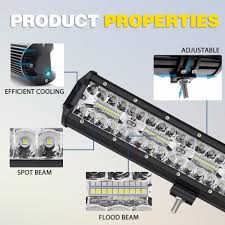 12 Volt Led Interior Lights China Auto Bar Lights Triple Row Wholesale Offroad 20inch 3