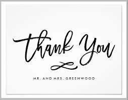 Wedding Thank You Notes Templates 15 Cool Wedding Thank You Card Designs Templates Psd