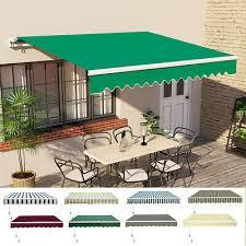 patio diy manual awning garden canopy