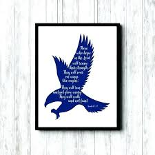 Christian Poster Ideas Eagles Wall Decor Eagles Wall Decor Scripture Wall Art Wings Of
