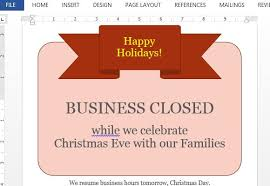 Holiday Closure Sign Template Magdalene Project Org