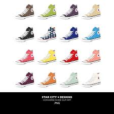 converse shoes clipart. chuck taylor converse shoe clip art clipart by starcitydesigns, $4.00 shoes p