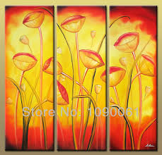 flower wall decor modern canvas picture