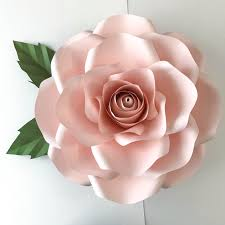 Paper Flower Cricut Template Silhouette Paper Flower Template