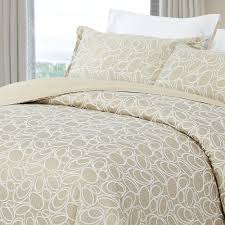 natural comfort luxurious cotton duvet cover mini set queen size in light taupe dccd circle ta q the home depot
