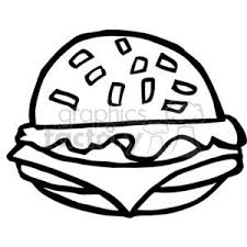 fast food clipart black and white. Simple White Vector Cartoon Funny Black White Food Fast Burgers Lunch Burger Beef  Sandwich Yummy Yum On Fast Food Clipart Black And White N