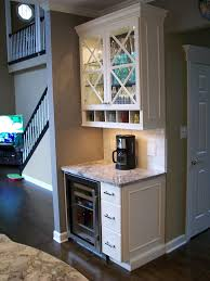 captivating small space bar table with modern beverage center also white counter plus marble countertop complete with glass storage cabinet