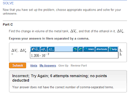 i need help mastering physics i really don t com find the change in volume of the metal tank delta
