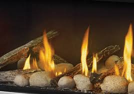 mirro flame porcelain reflective radiant panels clear glass beads and a combination of the beach fire and s fire kits