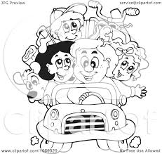 Royalty-Free Vector Clip Art Illustration of a Coloring Page ...