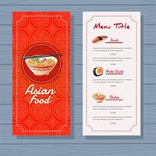 Free Food Menu Template Delectable asian food menu template blue background vector free download
