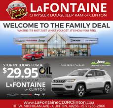 lafontainelafontaipeam chrysler dodge jeep ram of clintonwele to the family dealwhere it s not just