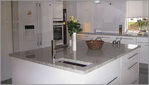 the white granite counter top