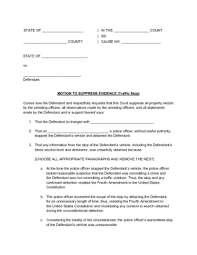 Sample Civil Complaint Form Cool How To Get Evidence Thrown Out In Court With Sample Motions
