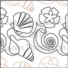 Seashell Design Sally Sells Seashells Karen Thompson Digitized Quilting Designs