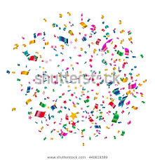 Celebrate Banner Celebrate Banner Party Flags Confetti Vector Stock Vector