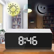 <b>3D LED Digital Clock</b> Snooze Bedroom Desk Alarm Clocks Hanging ...